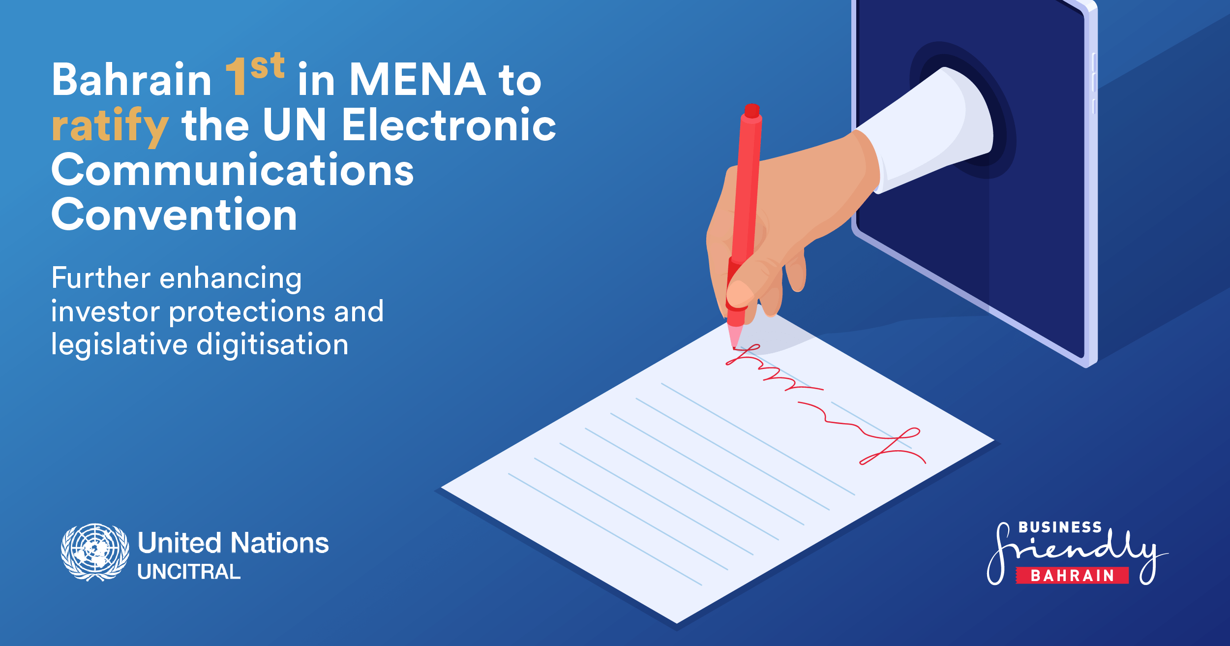 Bahrain becomes 1st country in MENA to ratify United Nations treaty on electronic communications